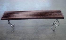 Reclaimed Redwood Bench
